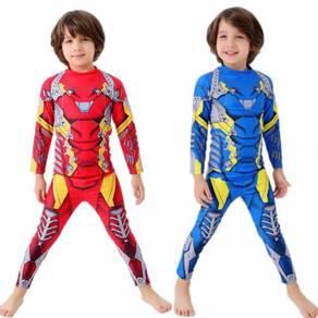 Iron man Spiderman Kids boys swim dive suit