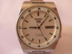 Seiko 5 Automatic 17 Jewels White Dial Watch
