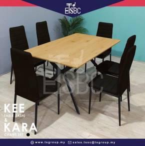 Kee table + 6 kara chairs