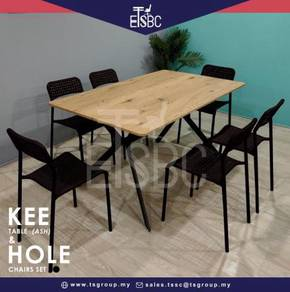 Kee table + 6 hole chairs