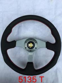 Momo race 14 inch full leather steering