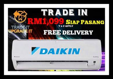 Special Offer Daikin Aircond 1099 Siap Pasang/65
