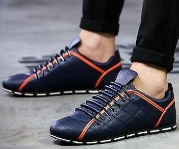 F0243 Stylish Classic Blue Sneakers Kasut Shoes