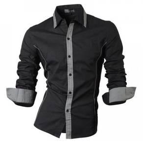 0538 READY STOCK Black Business Long Sleeved Shirt