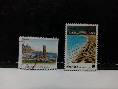 1979/92 Greece Stamps, Places