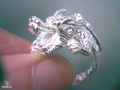 ABRS9-D002 Silver 925 Lively Dragon Ring Size 5~13