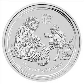 2016 Monkey 1oz Silver Bullion Coin