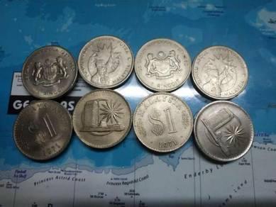 Malaysia 1 ringgit old coin