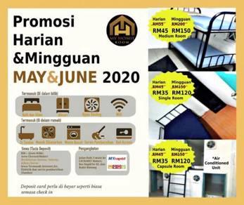 Sewa Promo 50% Diskaun Berdekatan LRT & MRT Maluri