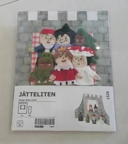 Ikea Christmas finger puppet castle children toy
