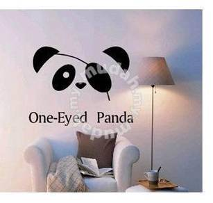 One-Eyed Panda Toilet stickers Wall Decor Sticker