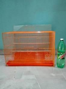 Bird Sugar Glider Cage 59x42x41cm Orange Blue Pink