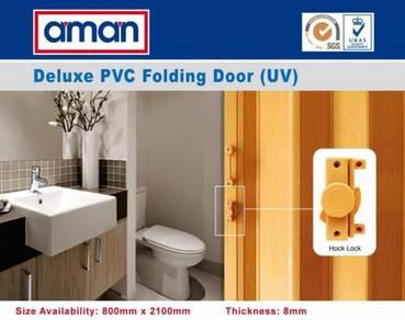 Aman 3182 Deluxe PVC Bathroom Kitchen Folding Door