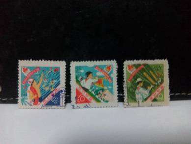 1961 North Korea Stamps, Boy Scouts
