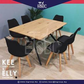 Kee table + 6 elly chairs