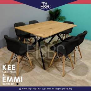 Kee table + 6 emmi chairs
