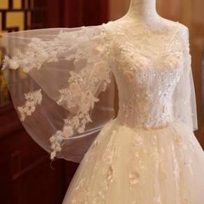White wedding bridal prom dress gown RB0371