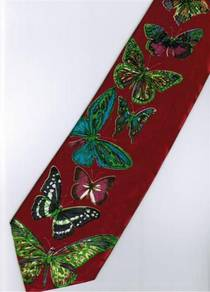 Butterfly Insect Animal RED Cartoon Neck Tie