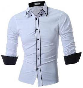 0543 READY STOCK White Business Long Sleeved Shirt