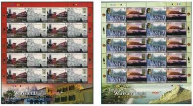 Mint Stamp Sheet World Heritage Site Malaysia 2009