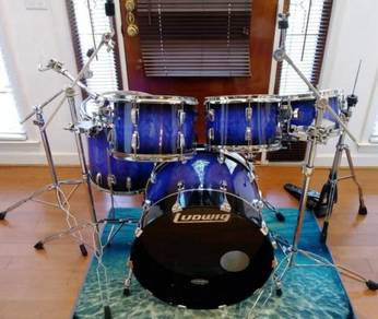 Ludwig drum set 70s shells restomond cymbals snare