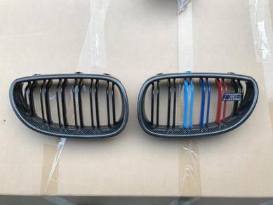 BMW E60 Grill Carbon Fiber Tri Color