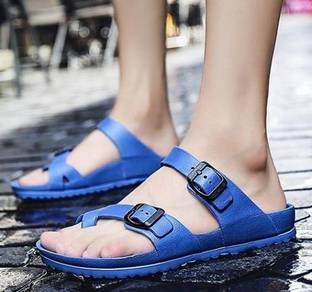 F0253 Blue Flip Flop Sandal Slipper Kasut Shoes
