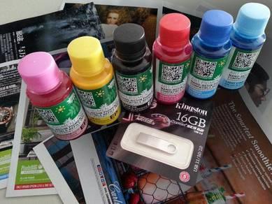 Art Pigment Ink for Art Card & Paper 6 Color CMYK