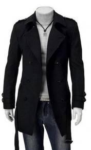Korean stylish double-breasted mid.long coat