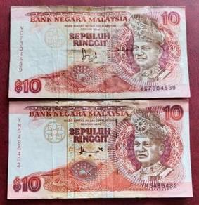 Wang Kertas Lama $10 (2 pcs - VC & YM)