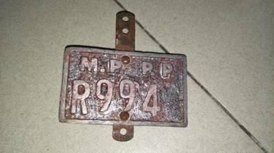 Vintage plate basikal MPPP R994 lama