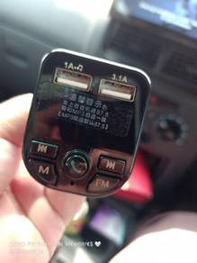 Car mp3 player radio dual usb charger car wireless