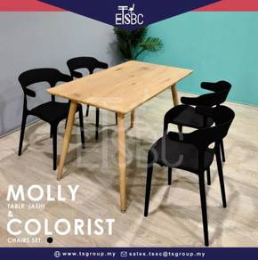 Molly table + 4 colorist chairs