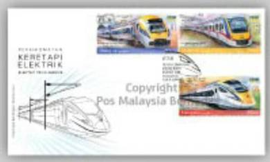 First Day Cover Electric Train Service Msia 2018