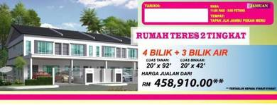 Pekan Meru - Double Storey Terrace House[Freehold][Low Downpayment]