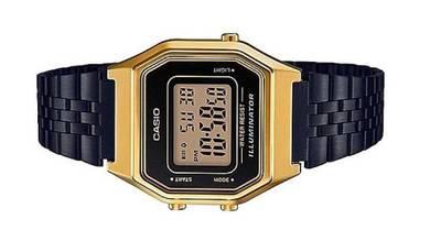 CASIO Lady Vintage Retro Black Watch LA680WEGB-1AD