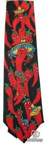 Chilli Cartoon Novelty Fancy Neck Tie
