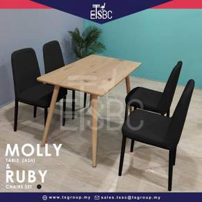 Molly table + 4 ruby chairs