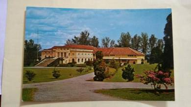 Antik Old JOHORE Castle Postcard 1960s PC 61