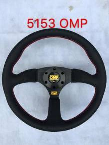 Omp 14 inch full leather steering