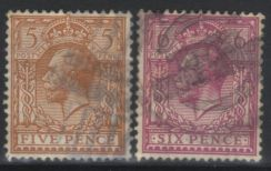 Great britain kgv 1912 sg382/385 used cat12 bj845