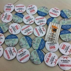 Pin Button Badge Custom Design
