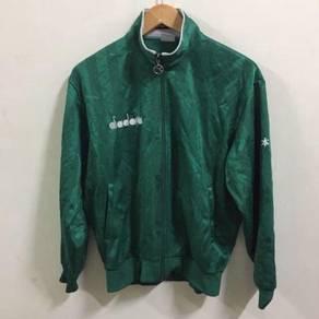 Diadora Green Track Top Jacket Size L Pull Over
