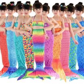 Mermaid tail beauty cosplay fibre kids swim suit