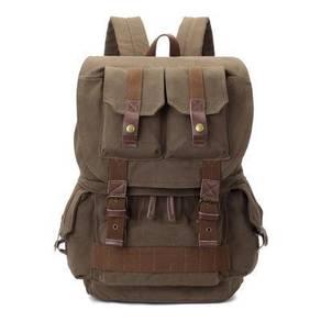 J9252 Retro Army Green Travel DSLR Bag Backpack