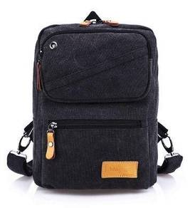 Stylish Dual-Use Black Casual Chest Bag Backpack