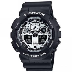 Casio G-Shock GA-100BW-1A Analog-Digital Watch