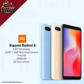 Baru Xiaomi Redmi 6 3GB RAm 32GB Rom Myset