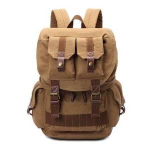 J9252 Retro Brown Large Travel DSLR Bag Backpack