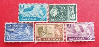 Setem Sarawak Zaman British (5 pcs)